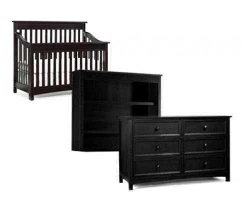 Bonavita Peyton Collection Peyton 3 Piece Set: Lifestyle Crib, Double Dresser and Hutch  Picture