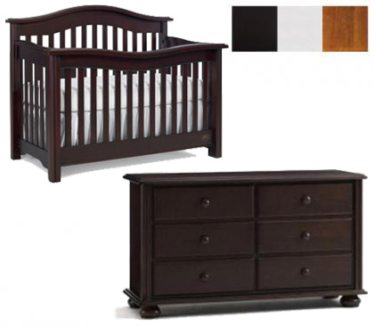 Bonavita Kinsley Collection Kinsley 2 Piece Set: Crib and Double Dresser Picture