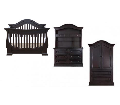Baby Appleseed Davenport Collection Davenport 4 Piece Package: Lifestyle Crib, Double Dresser, Hutch and Armoire Picture