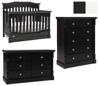Dolce Babi Roma Collection Roma 3 Piece Set: Crib, Double Dresser and 5 Drawer Chest Picture