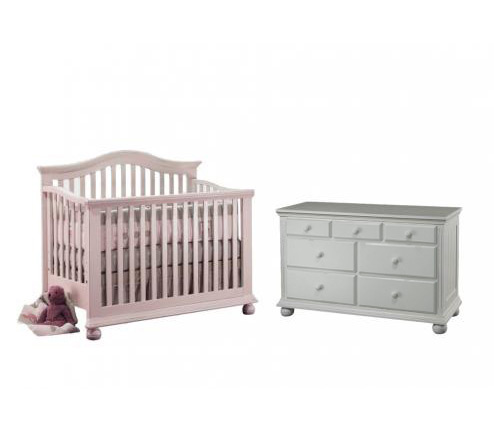 Sorelle Vista Collection Series 2600 Vista Collection 3 Piece Set: Crib, Double Dresser and Full Size Rails Picture