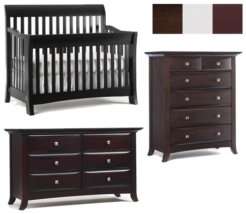 Bonavita Metro Collection Metro 3 Piece Set: Lifestyle Crib, 5 Drawer Chest and Double Dresser Picture