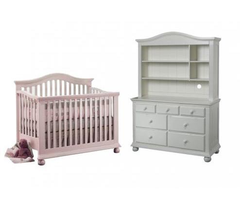 Sorelle Vista Collection Series 2600 Vista Collection 3 Piece Set: Crib, Double Dresser and Hutch Picture