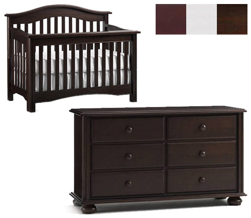 Bonavita Hudson Collection Hudson 2 Piece Set: Lifestyle Crib and Double Dresser Picture