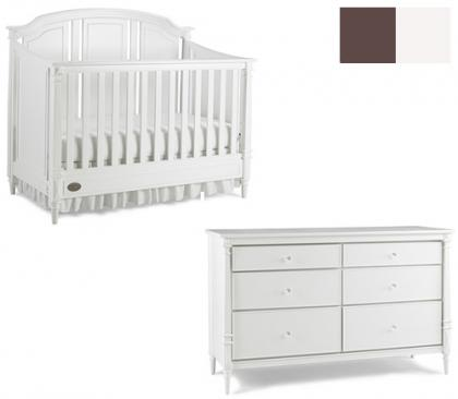 Dolce Babi Bella Collection Bella 2 Piece Set: Crib and Double Dresser Picture