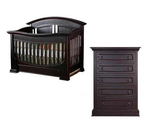 Baby Appleseed Chelmsford Collection Chelmsford 2 Piece Set: Crib and 5 Drawer Chest Picture