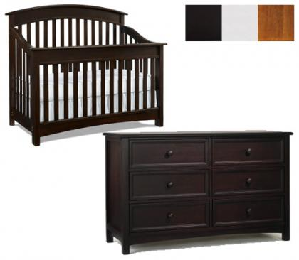 Bonavita Casey Collection Casey 2 Piece Set: Crib and Double Dresser Picture