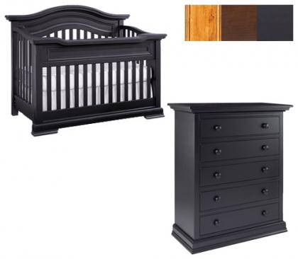 Bonavita Belmont Collection Belmont 2 Piece Set: Crib and 5 Drawer Chest Picture