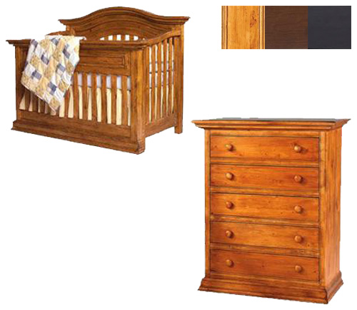 Bonavita Sheffield Collection Sheffield 2 Piece Set: Lifestyle Crib and 5 Drawer Chest Picture