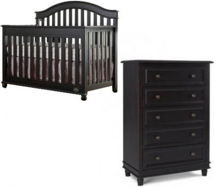 Bonavita Bradlee Collection Bradlee 2 Piece Package: Crib and 5 Drawer Picture