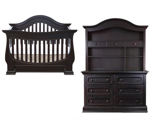 Baby Appleseed Davenport Collection Davenport 3 Piece Set: Crib, Double Dresser and Hutch Picture