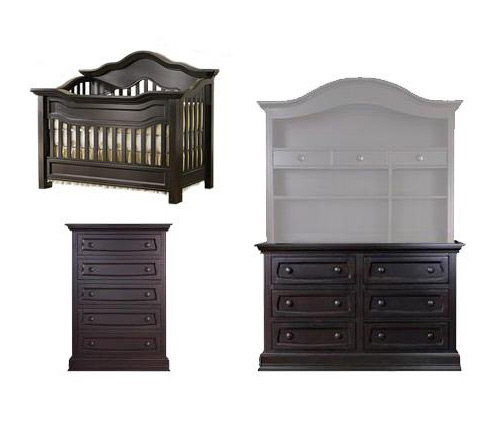 Baby Appleseed Millbury Collection Millbury 4 Piece Package: Package, Crib, Double Dresser, 5 Drawer Chest and Full Size Rails Picture