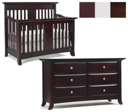 Bonavita Harper Collection Harper 2 Piece Set: Crib and Double Dresser Picture