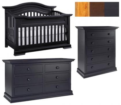 Bonavita Belmont Collection Belmont 3 Piece Set: Crib, Double Dresser and 5 Drawer Chest Picture