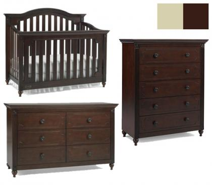 Dolce Babi Bambino Collection Bambino 3 Piece Set: Crib, Double Dresser and 5 Drawer Chest Picture