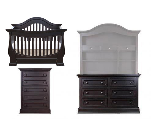Baby Appleseed Davenport Collection Davenport 3 Piece Package: Lifestyle Crib, Double Dresser and 5 Drawer Chest Picture