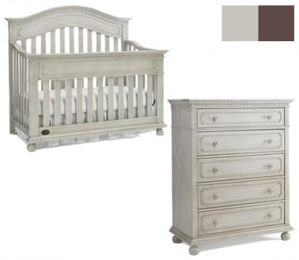 Dolce Babi Naples Collection Naples 2 Piece Set: Crib and 5 Drawer Chest Picture