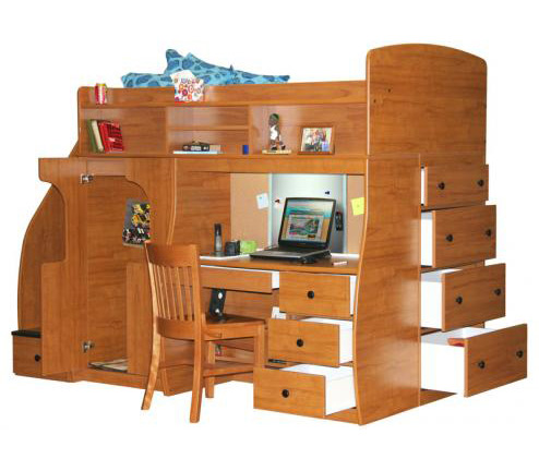 Berg Furniture Play and Study Collection of Loft Beds