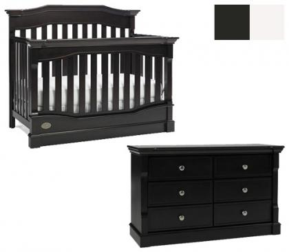 Dolce Babi Roma Collection Roma 2 Piece Set: Crib and Double Dresser Picture