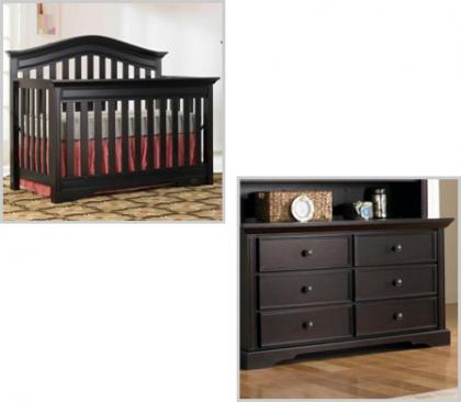 Bonavita Westfield Collection Westfield 2 Piece Set: Crib and Double Dresser Picture