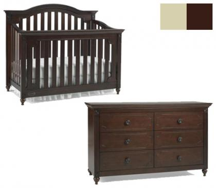 Dolce Babi Bambino Collection Bambino 2 Piece Set: Crib and Double Dresser Picture