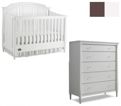 Dolce Babi Bella Collection Bella 2 Piece Set: Crib and 5 Drawer Chest Picture