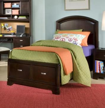 Legacy Classic Kids Park City Park City  Complete Panel Bed with Storage Footboard 4/6 Full Picture