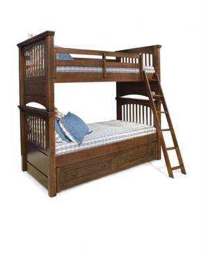 Legacy Classic Kids American Spirit American Spirit Twit Over Twin Bunk Bed Picture
