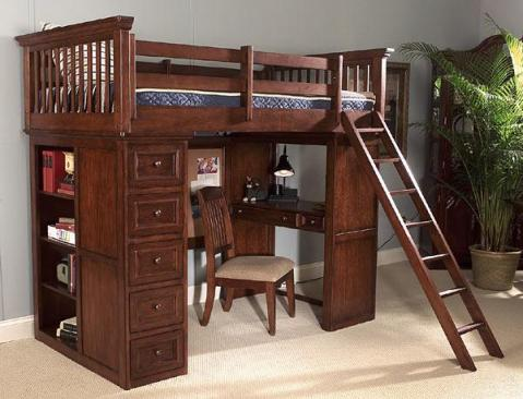 Legacy Classic Kids American Spirit American Spirit Twin 3/3 Loft Bed Picture