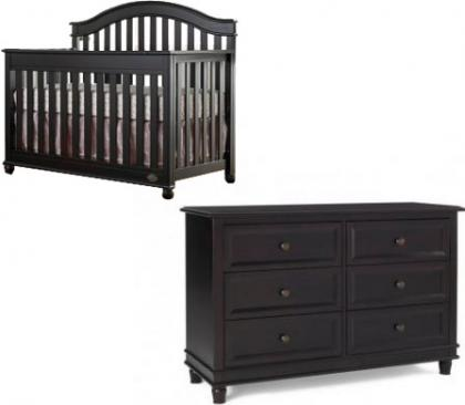 Bonavita Bradlee Collection Bradlee 2 Piece Package: Crib and Double Dresser Picture