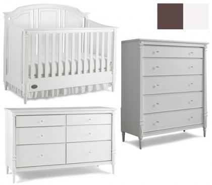 Dolce Babi Bella Collection Bella 3 Piece Set: Crib, Double Dresser and 5 Drawer Chest Picture