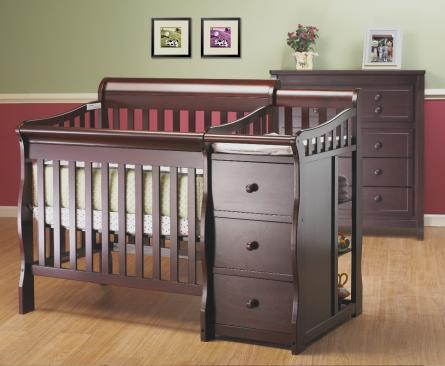 Sorelle Newport Series 595 Newport Series 595	Newport 3 in 1 Mini Crib Picture