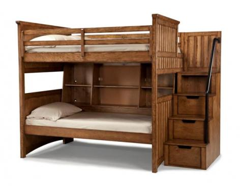 Legacy Classic Kids Timber Lodge Timber Lodge Complete Full over Twin Bunk w/ Bedside Storage Picture