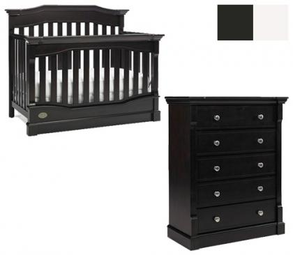 Dolce Babi Roma Collection Roma 2 Piece Set: Crib and 5 Drawer Chest Picture