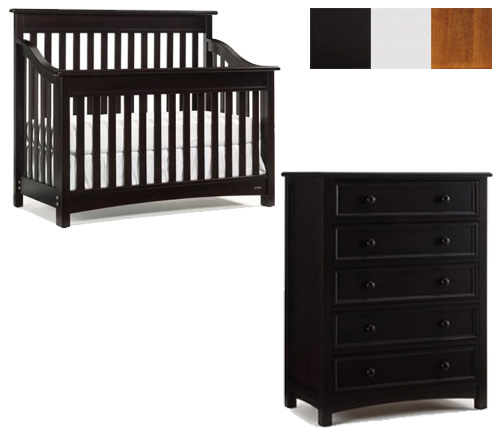 Bonavita Peyton Collection Peyton 2 Piece Set: Lifestyle Crib and 5 Drawer Dresser Picture