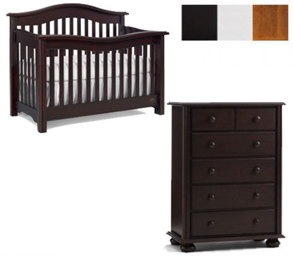 Bonavita Kinsley Collection Kinsley 2 Piece Set: Crib and 5 Drawer Chest Picture