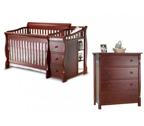 Sorelle Tuscany Series 1050 Tuscany Collection 3 Piece Set: Crib, 4 Drawer Chest and Full Size Rails Picture