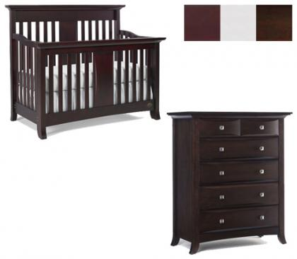 Bonavita Harper Collection Harper 2 Piece Set: Crib and 5 Drawer Chest Picture