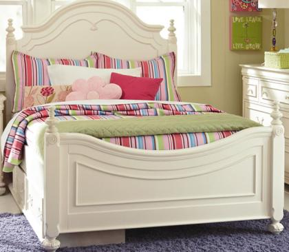 Legacy Classic Kids Charlotte Charlotte Complete Low Poster Bed Full 4/6 Picture