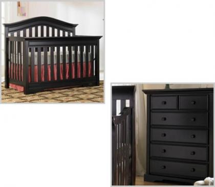 Bonavita Westfield Collection Westfield 2 Piece Set: Crib and 5 Drawer Picture