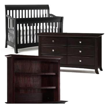 Bonavita Metro Collection Metro 3 Piece Set: Lifestyle Crib, Double Dresser and Hutch Picture