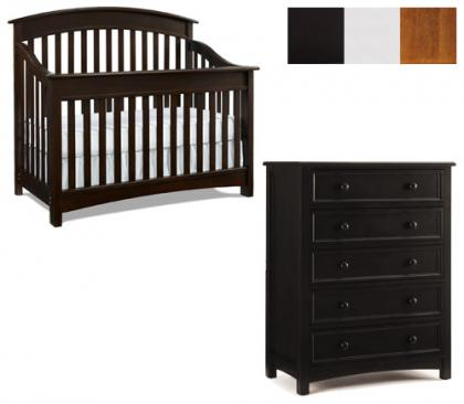 Bonavita Casey Collection Casey 2 Piece Set: Crib and 5 Drawer Chest Picture