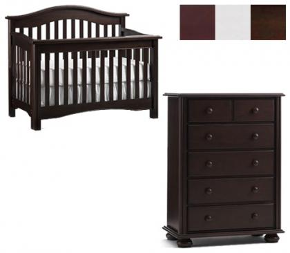 Bonavita Hudson Collection Hudson 2 Piece Set: Lifestyle Crib and 5 Drawer Chest Picture