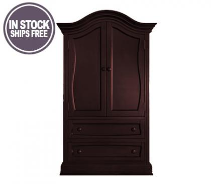 Baby Appleseed Davenport Collection Davenport Collection Armoire in Merlot Picture