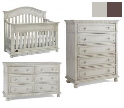 Dolce Babi Naples Collection Naples 3 Piece Set: Crib, Double Dresser and 5 Drawer Chest Picture