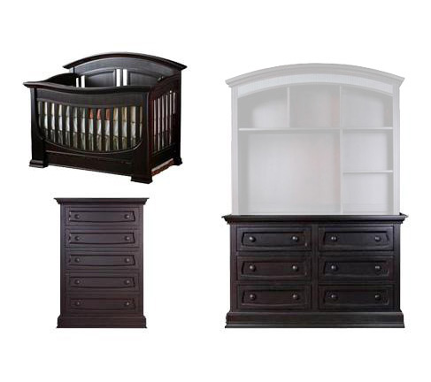 Baby Appleseed Chelmsford Collection Chelmsford 3 Piece Package: Crib, Double Dresser and 5 Drawer Chest Picture