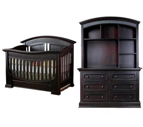 Baby Appleseed Chelmsford Collection Chelmsford 3 Piece Set: Lifestyle Crib, Double Dresser, Hutch Picture