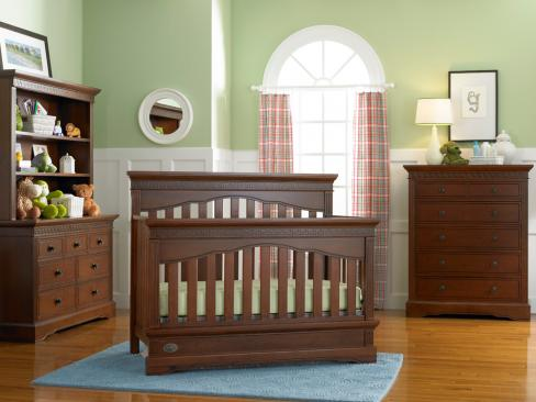 Dolce Babi Grazi Collection Grazi Special: Crib, Double Dresser, Hutch and 5 Drawer Chest Picture