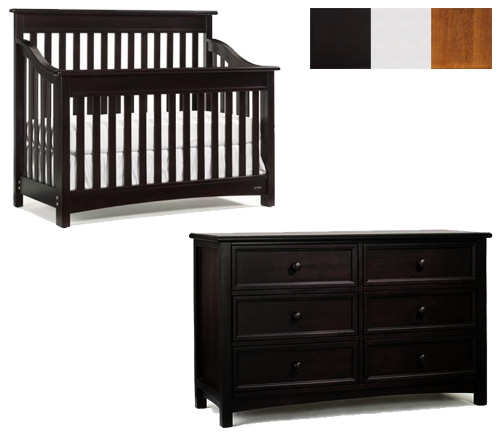 Bonavita Peyton Collection Peyton 2 Piece Set: Lifestyle Crib and Double Dresser Picture
