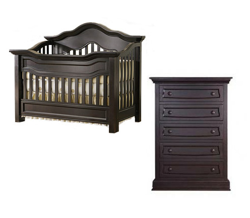 Baby Appleseed Millbury Collection Millbury 2 Piece Package: Package Crib and 5 Drawer Chest Picture